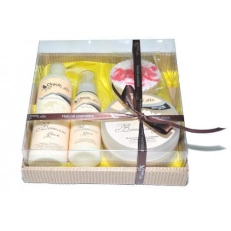 Набор подарочный для тела и душа ВАНИЛЛА-КРИМ (пенка, молочко, скрабби, массорти) TM ChocoLatte