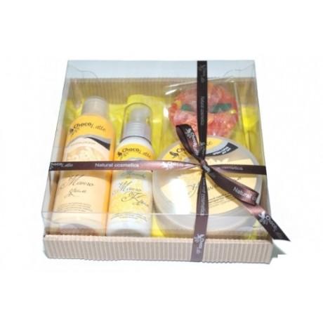 Набор подарочный для тела и душа МАНГО-КРИМ (пенка, молочко, скрабби, массорти) TM ChocoLatte