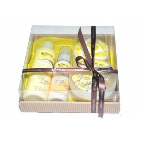 Набор подарочный для тела и душа ЦИТРУС-МИКС (пенка, молочко, скрабби, массорти) TM ChocoLatte