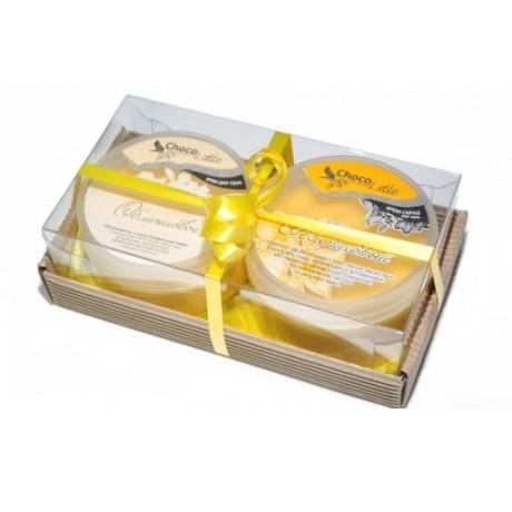 Набор подарочный для тела ОБЛЕПИХА (крем-скраб Конфитюр Облепиховый, Суфле Облепихов) ТМ Chocolatte