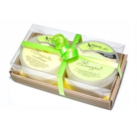 Набор подарочный для тела ВИНОГРАД (крем-скраб Сорбе Виноград, Йогурт Виноградно-лим) ТМ Chocolatte