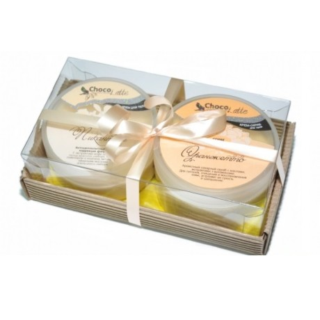 Набор подарочный для тела ОРАНЖЕТТО (крем-скраб Сорбе Оранжетто, Суфле Пикатное) ТМ Chocolatte
