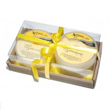 Набор подарочный для тела ТРОПИКАНКА (крем-скраб Сорбе Тропиканка, Йогурт Тропический) ТМ Chocolatte