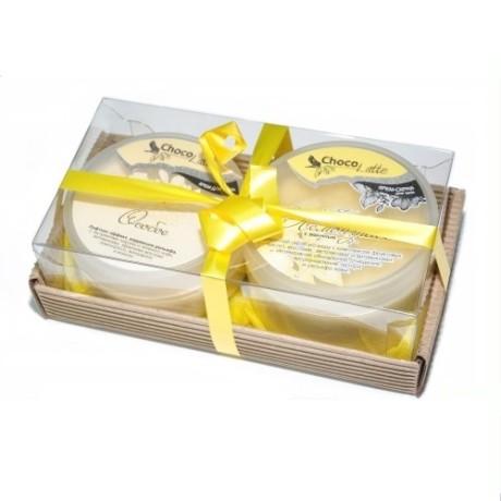 Набор подарочный для тела ЛЕМОНГРАСС (крем-скраб Конфитюр Лемонграсс, Суфле Особое) ТМ Chocolatte