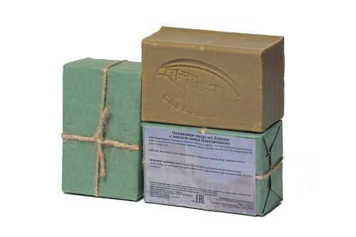 Мыло оливковое из Алеппо ЛАВРОВОЕ