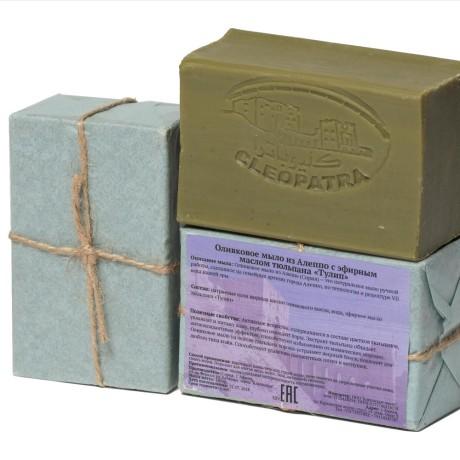 """Мыло оливковое из Алеппо с эфирным маслом тюльпана """"ТУЛИП"""""""