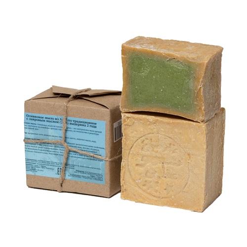 оливковое традиционное алеппское мыло с лавровым маслом